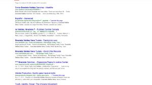 Graciela Valdez Vera no existía para Google